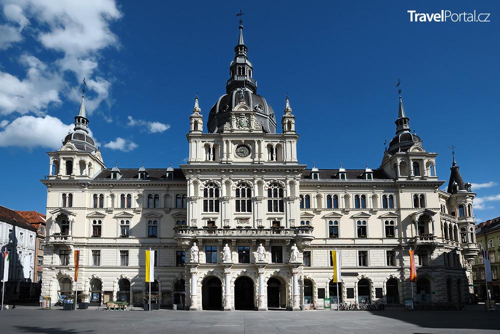 radnice ve městě Graz neboli Štýrský Hradec