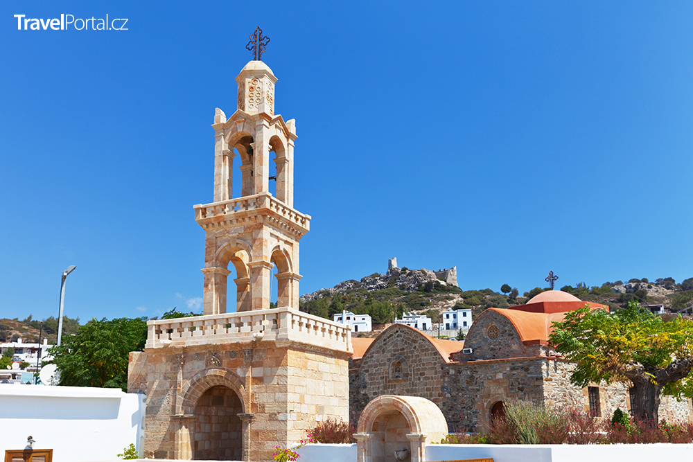 vesnice Asklipio na ostrově Rhodos