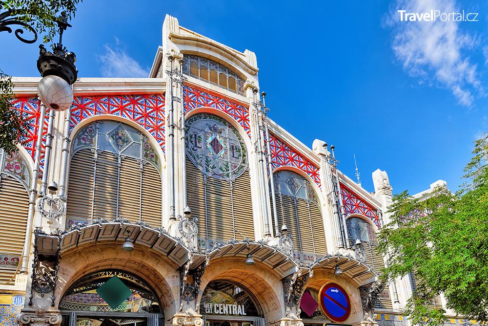 Centrální tržiště ve městě Valencie