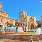 fontána Túria ve městě Valencia