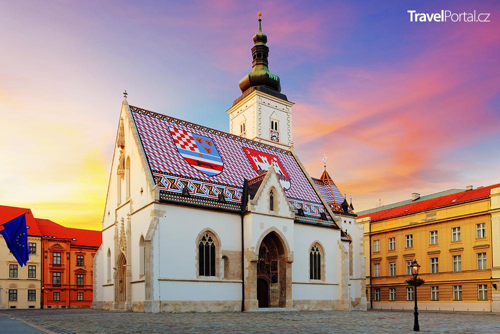 gotický kostel sv. Marka ve městě Záhřeb