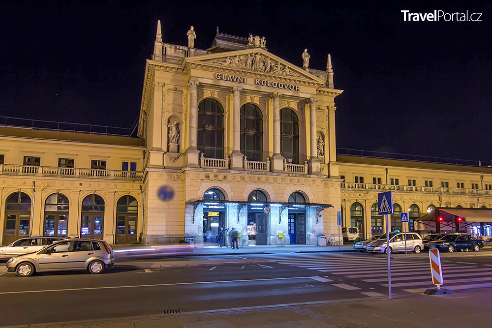 hlavní vlakové nádraží v chorvatském Záhřebu
