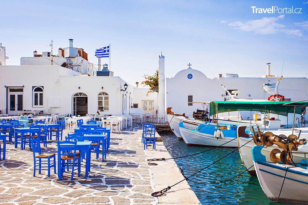 vesnička Naousa na ostrově Paros