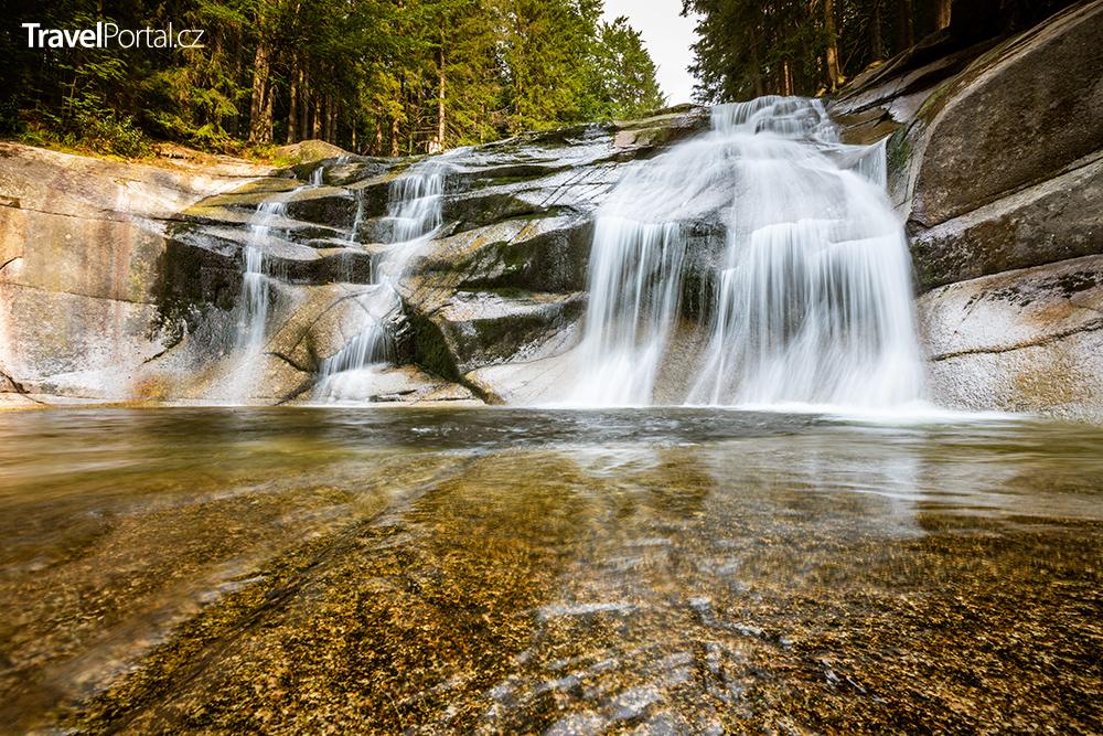 Mumlavský vodopád poblíž města Harrachov