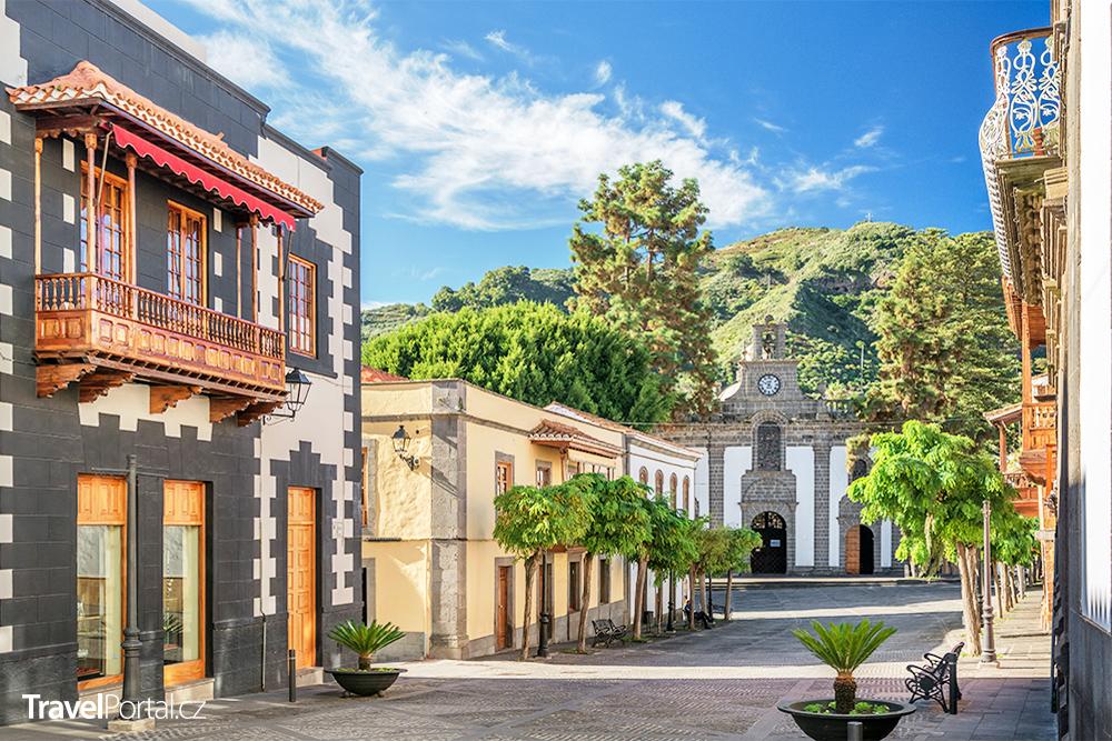 městečko Teror na ostrově Gran Canaria