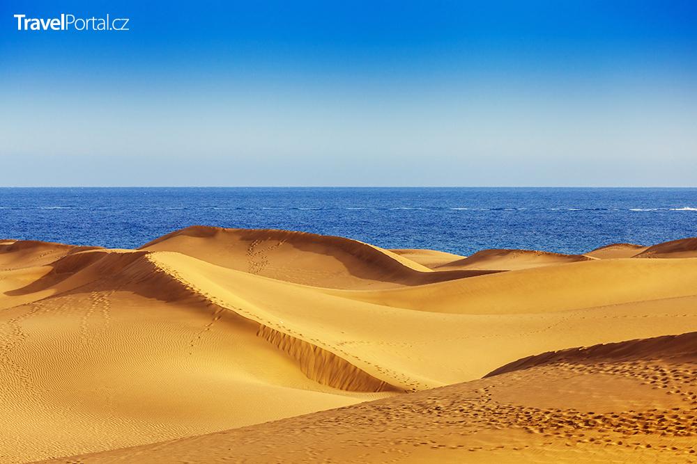 písečné duny v Maspalomas