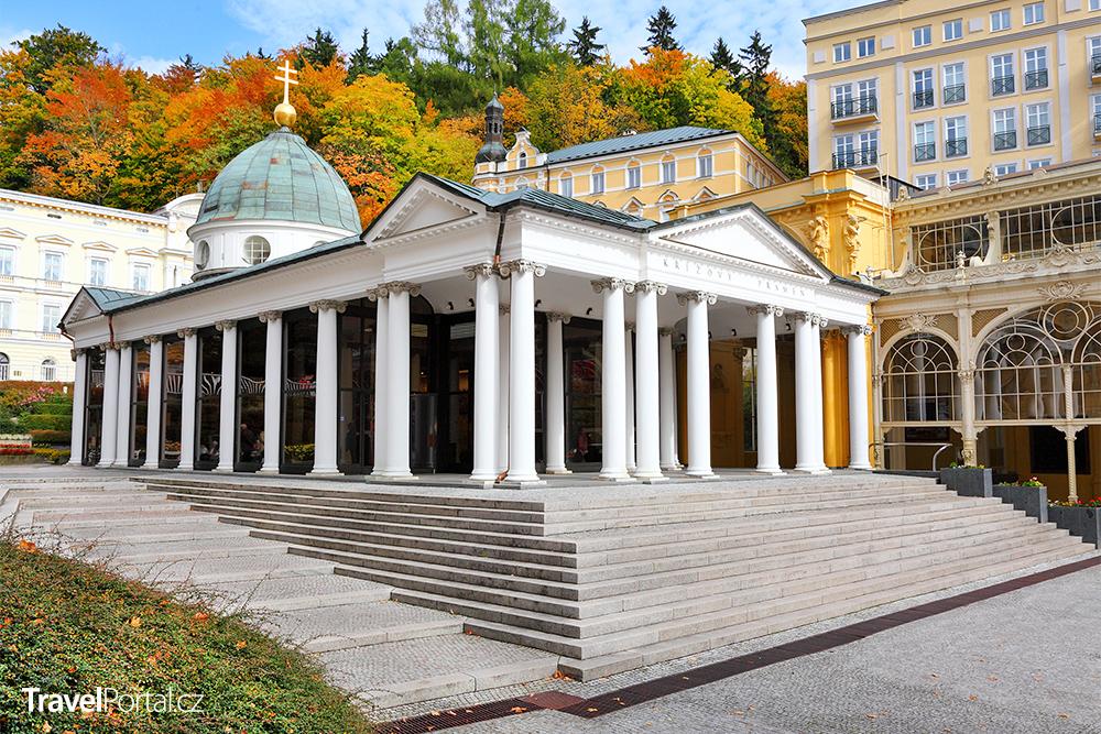 pavilon Křížového pramene na kolonádě