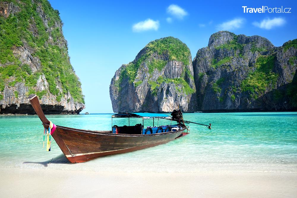 thajská pláž Maya Bay