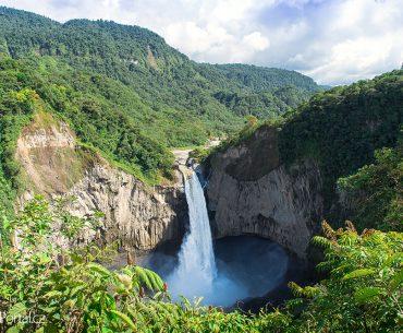 vodopád San Rafael v Ekvádoru