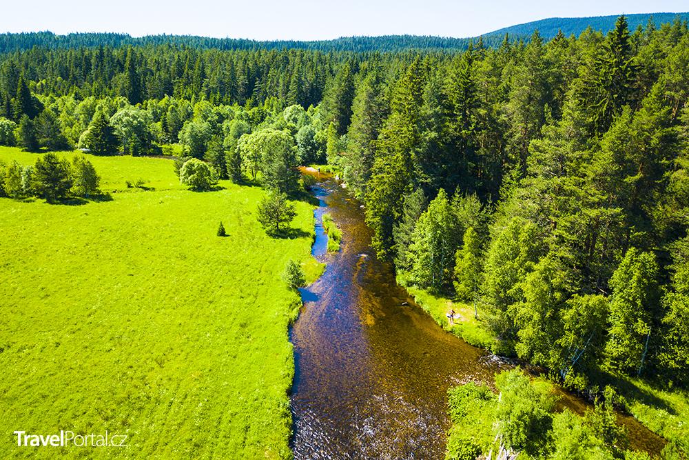 řeka Křemelná na Šumavě