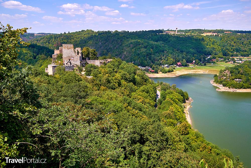 hrad Cornštejn a Vranovská přehrada