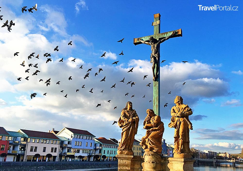kalvárie na Kamenném mostě ve městě Písek