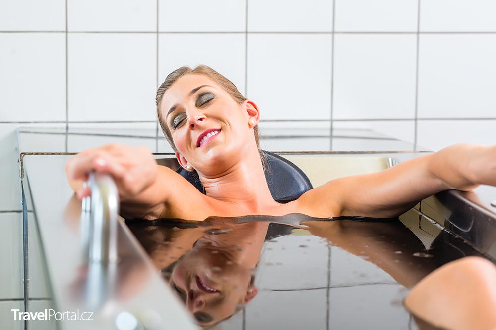 slatinné koupele v lázních Třeboň