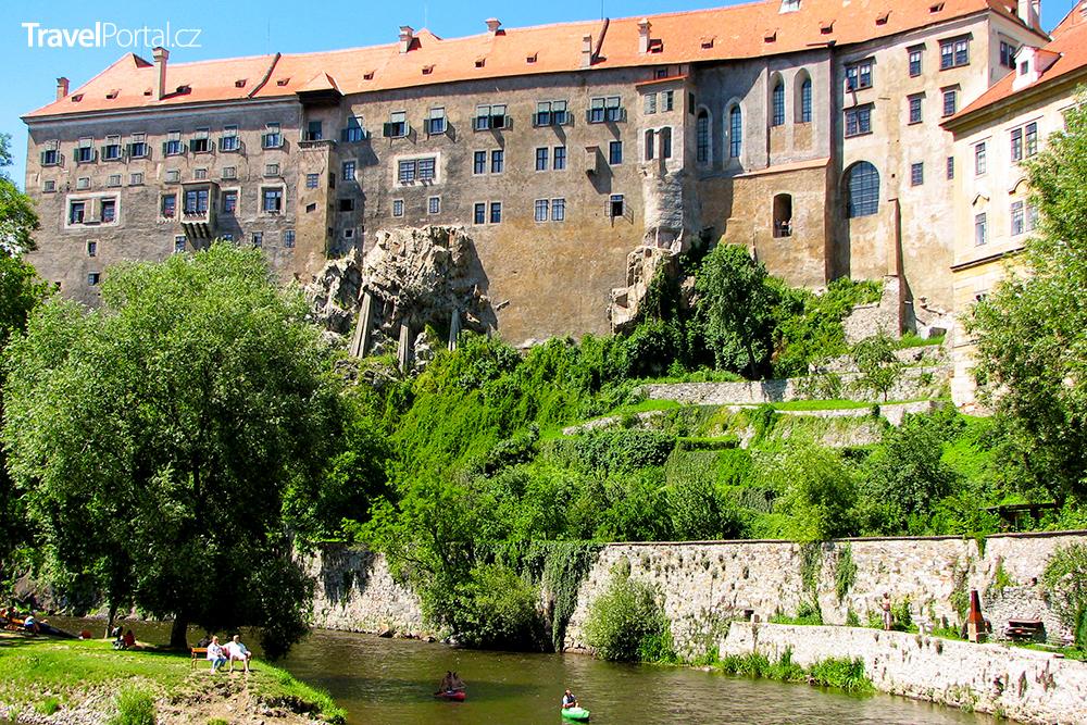 zámek Český Krumlov a řeka Vltava