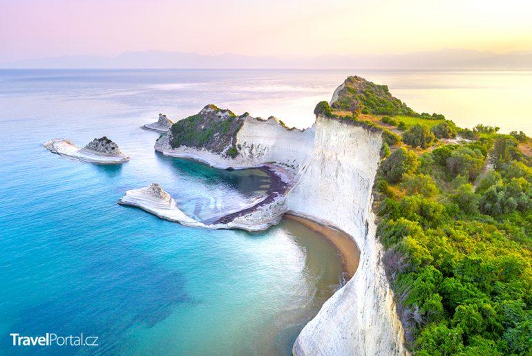 Cape Drastis na ostrově Korfu