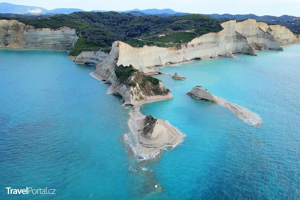 mys Drastis na řeckém ostrově Korfu