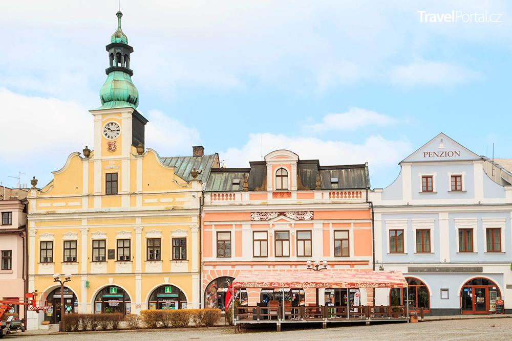 Staré náměstí ve městě Rychnov nad Kněžnou
