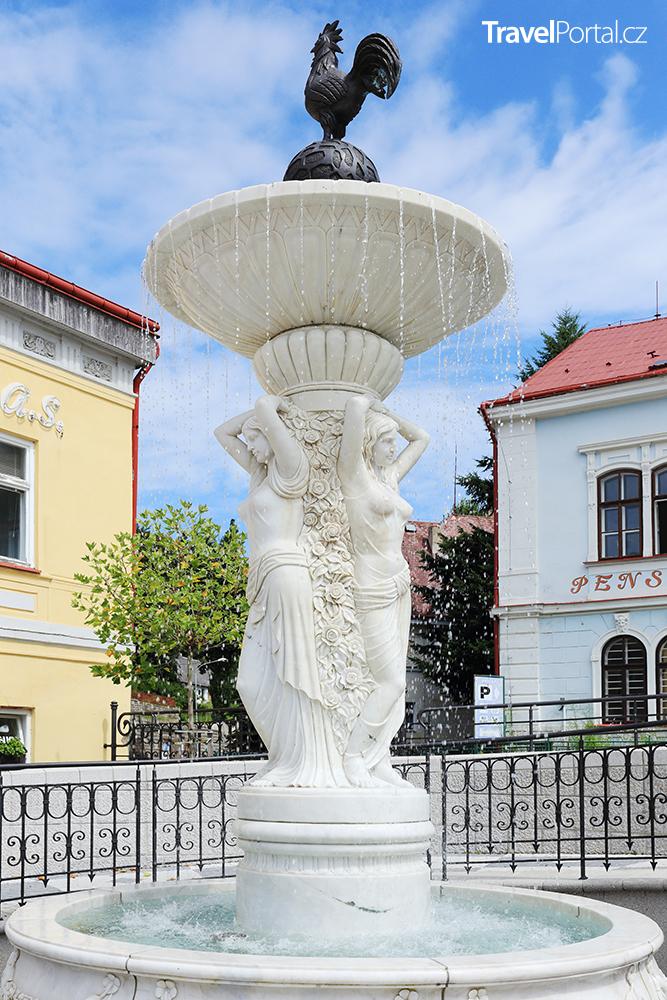 fontána v obci Lázně Libverda