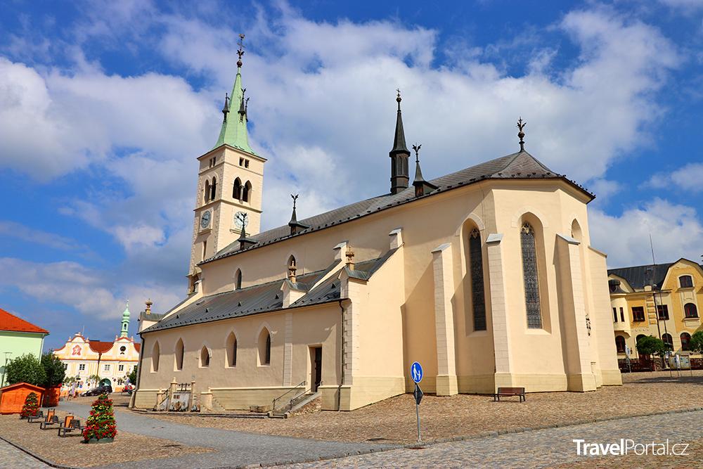 kostel svaté Markéty ve městě Kašperské Hory