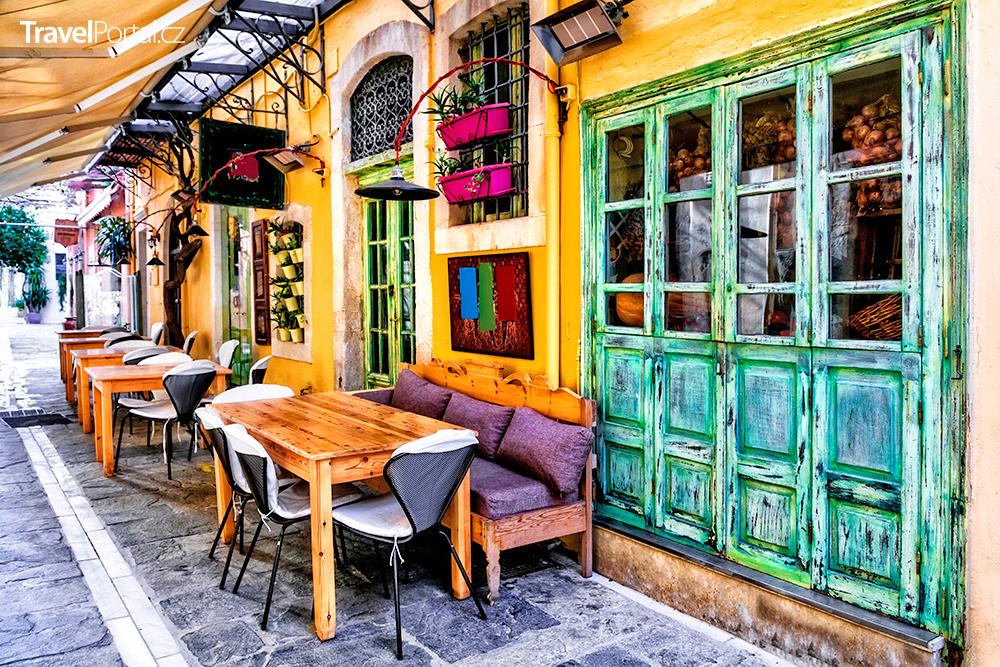 malá restaurace ve městě Rethymno