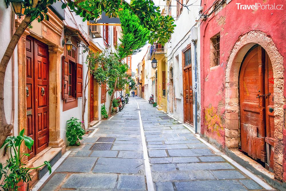 ulice ve městě Rethymno