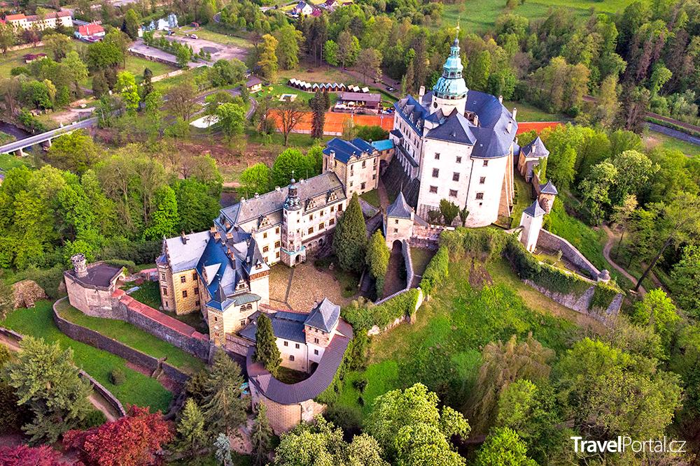 zámek a hrad ve městě Frýdlant