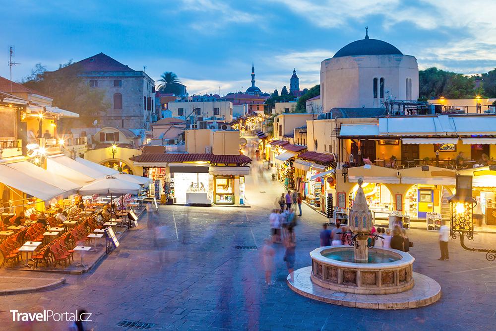 Hippokratovo náměstí, město Rhodos