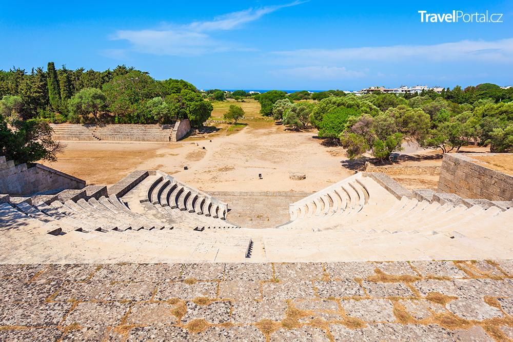 antický stadion, město Rhodos