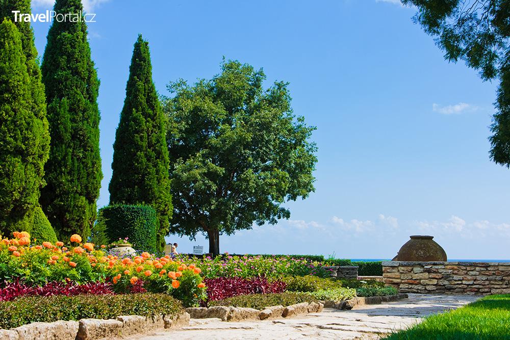 botanická zahrada ve městě Balčik