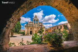 klášter Arkadi na řeckém ostrově Kréta