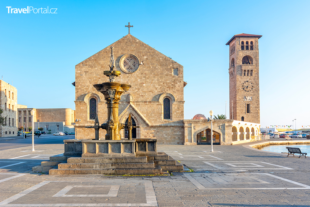 kostel Evangelismos, město Rhodos