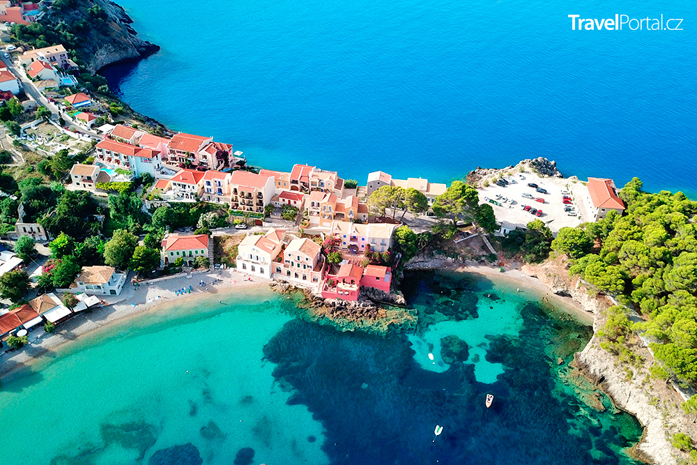 vesnice Asos neboli Assos na ostrově Kefalonie