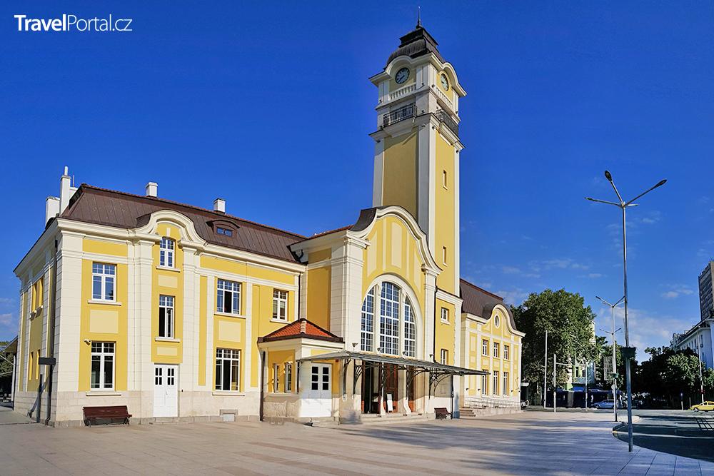 vlakové nádraží ve městě Burgas