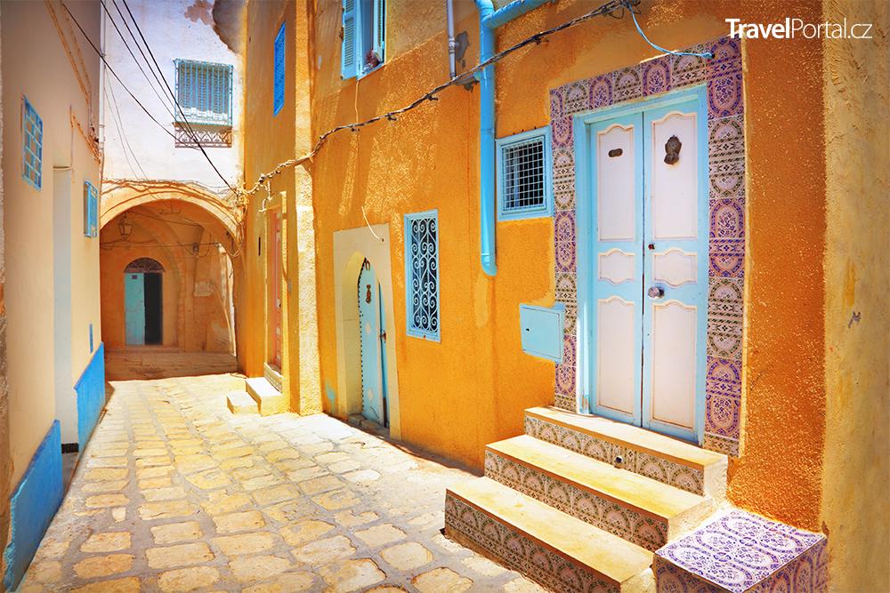 ulička ve městě Sousse