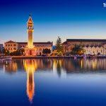 večerní město Zakynthos