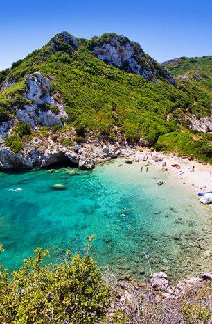 Porto Timoni: Dvojitá pláž na ostrově Korfu vyžaduje dobrou fyzičku