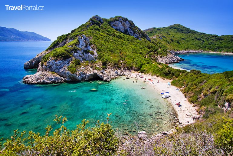 Porto Timoni na řeckém ostrově Korfu