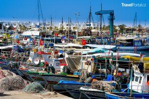 rybářský přístav v Houmt Souku
