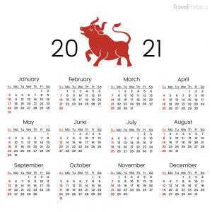 kalendář na rok 2021