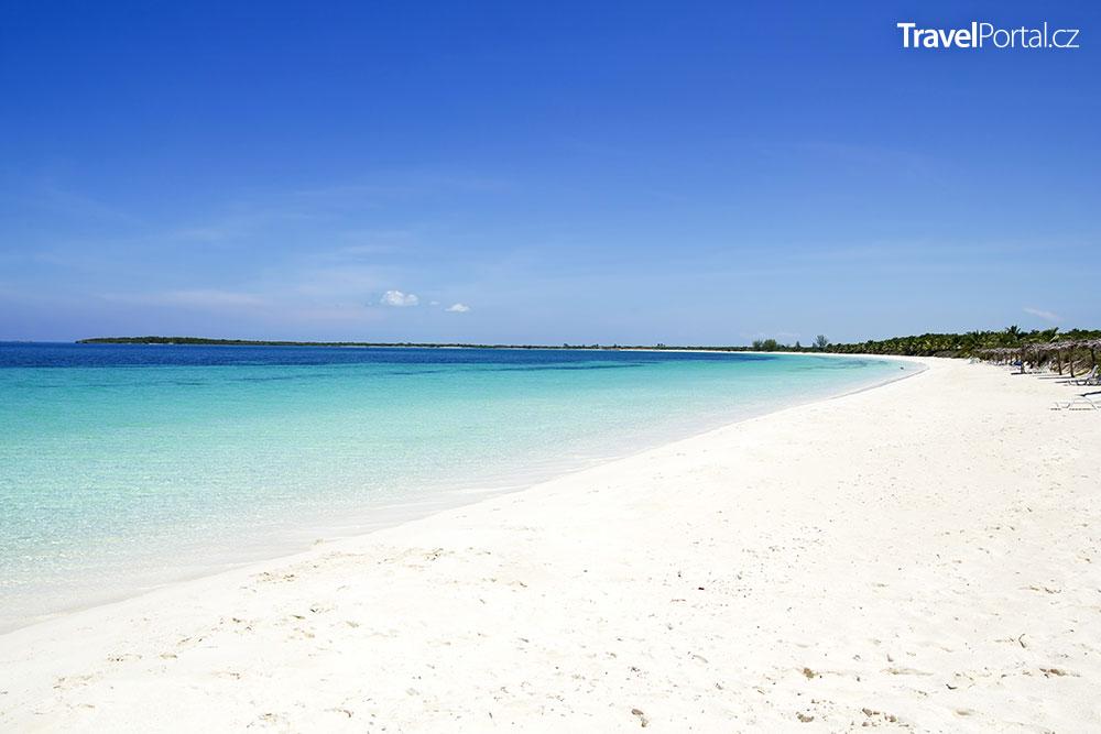 pláž Santa Maria Beach na kubánském ostrově Cayo Santa Maria