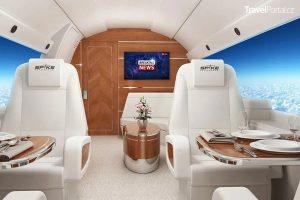 interiér nadzvukového letadla
