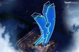 v Dubaji vyroste obří kolíček na prádlo s názvem Clothespin Tower