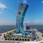 vizualizace mrakodrapu Clothespin Tower