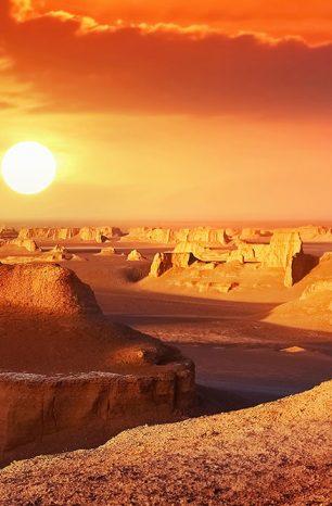 Nejteplejší místo na světě: Solná poušť Lút ve východním Íránu