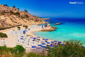 Ayia Napa na ostrově Kypr