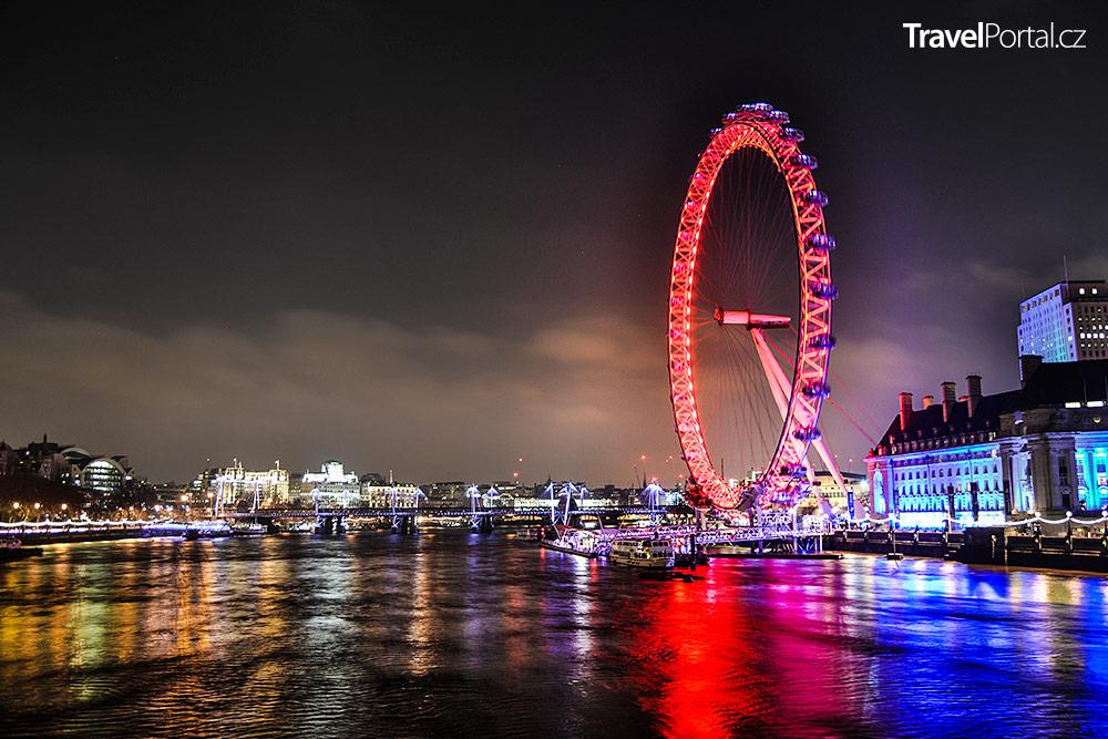 London Eye ve městě Londýn