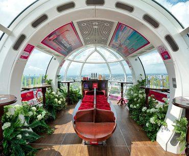 Pub Pod je součástí London Eye