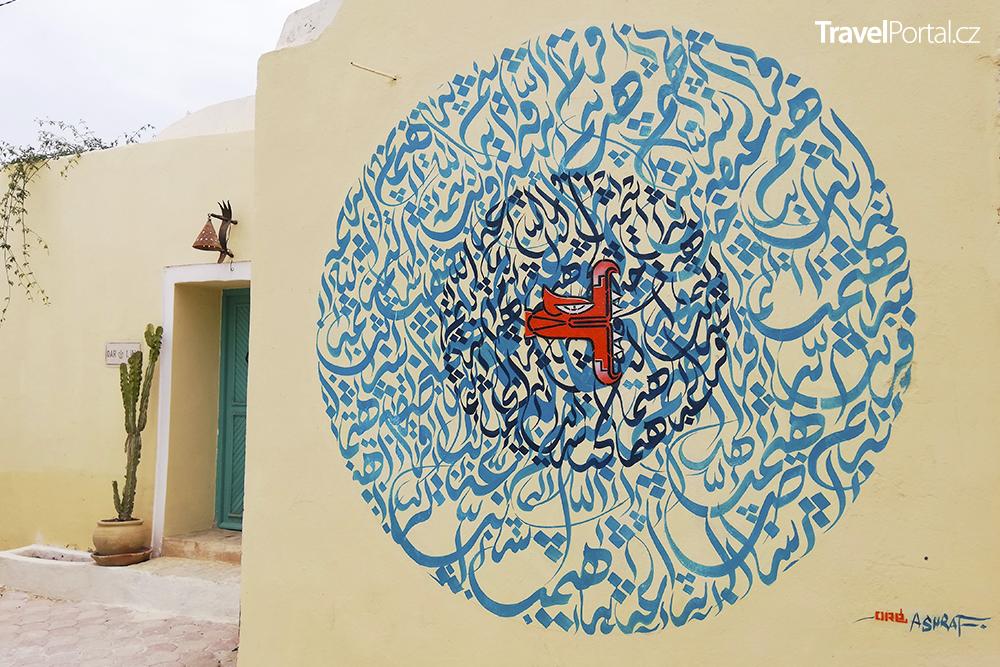 jeden z výtvarných počinů ve čtvrti Djerbahood