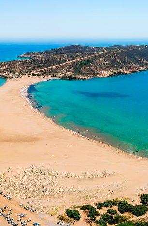 Prasonisi: Pláž na ostrově Rhodos má přezdívku Polibek dvou moří