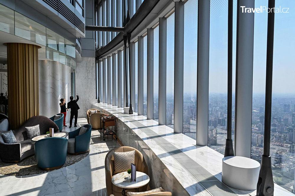 hotel v Šanghaji nabízí skvělý výhled